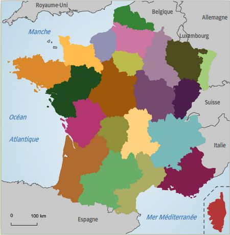 Carte France et Ses Frontieres la France et Ses Frontières